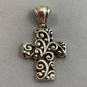 Jewelry - Sterling Scroll Cross Pendant